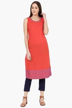 RANGRITI Womens Straight Poly Cotton Kurta - 202255888