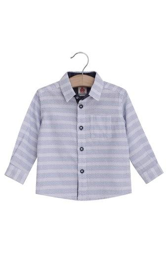 Kids Collared Printed Casual Shirt