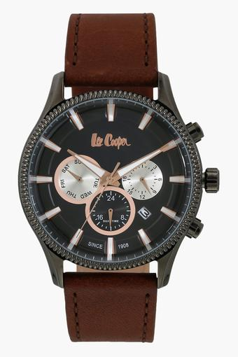 Mens Chronograph Leather Watch - 6244052