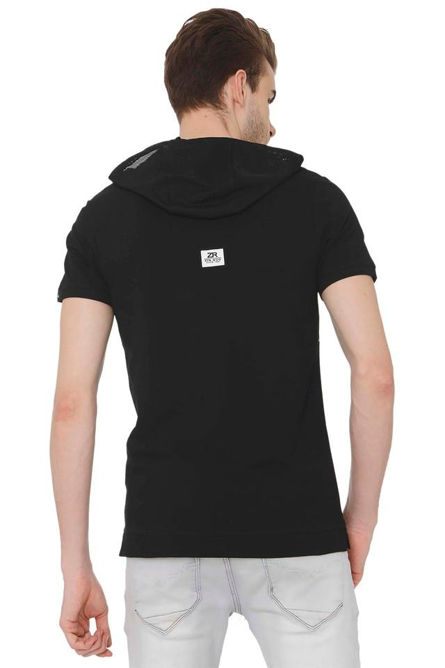 Mens Hooded Neck Printed T-Shirt