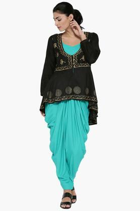 SHREE Womens Liva Tunic With Cowl Pants