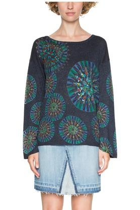 DESIGUAL Womens Round Neck Printed Pullover - 203850081_9308