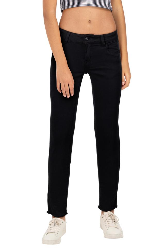 Womens Coated Jeans