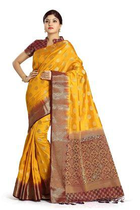 DEMARCA Womens Art Silk Tussar Designer Saree - 204100139_9407