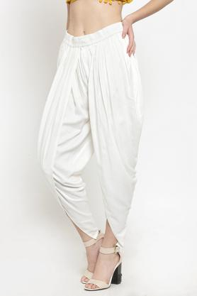 Womens Solid Dhoti Pants