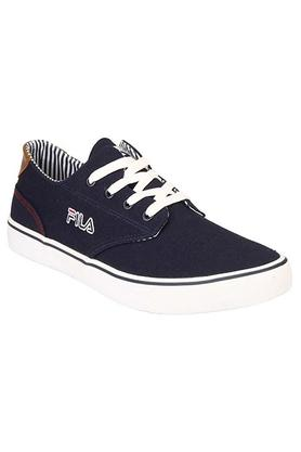 FILA Mens Canvas Lace Up Sneakers