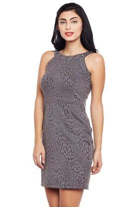 Womens Round Neck Bodycon Dress