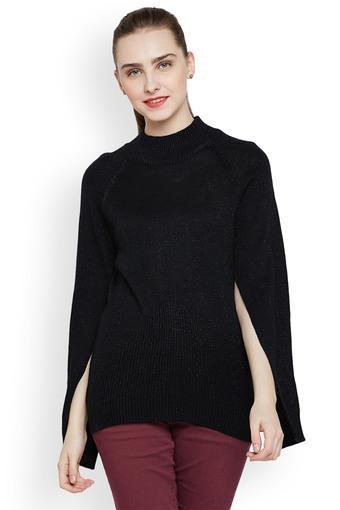 Womens Round Neck Slub Pullover