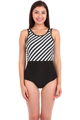 ab16fbfe98 Buy NIDHI MUNIM Womens Stripe Swimsuit | Shoppers Stop