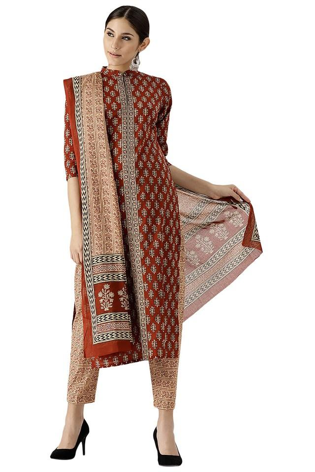 Womens Cotton Printed Kurta Set