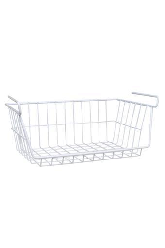 Metallic Grid Under The Shelf Basket Rack