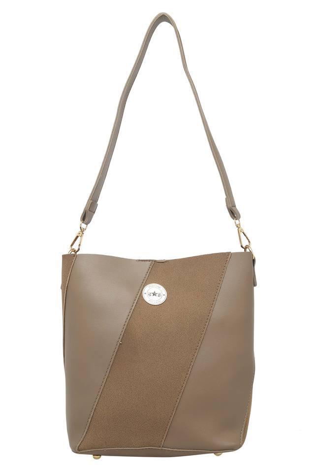 Womens Zip Closure Tote Handbag With Sling Bag