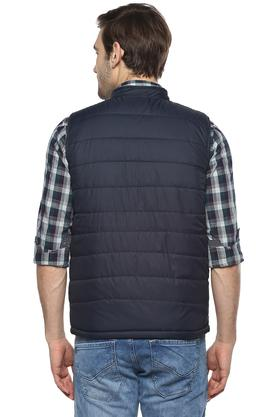 Mens Mao Collar Solid Quilted Gilet