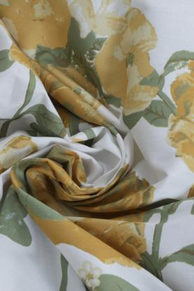 Superfine Cotton Yellow Double Bedsheet with 2 Pillow Covers - 210 TC