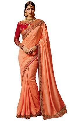 VRITIKAWomens Magic Silk Designer Saree With Blouse - 204061857_9506