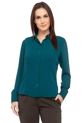 05334b4b203ad4 Buy ALLEN SOLLY Womens Solid Formal Shirt | Shoppers Stop