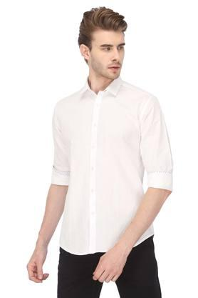 Mens Self Printed Casual Shirt
