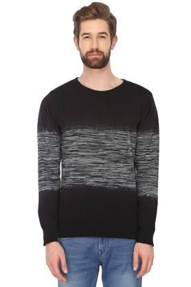 ED HARDY Mens Round Neck Colour Block Sweater