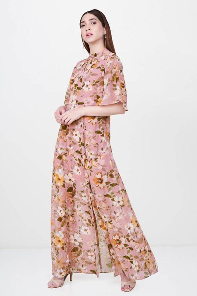 67855563e70d Buy AND Womens Tie Up Neck Floral Print Maxi Dress