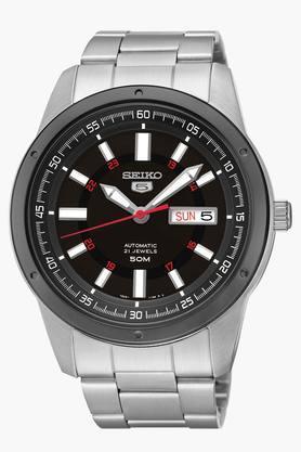 SEIKOMens 5 Analog Black Dial Watch - SNKN15K1
