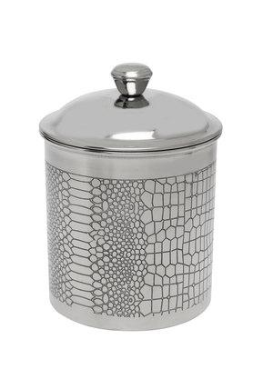 IVYCylindrical Engraved Box With Lid