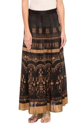 GLOBAL DESI Womens Printed Casual Skirt