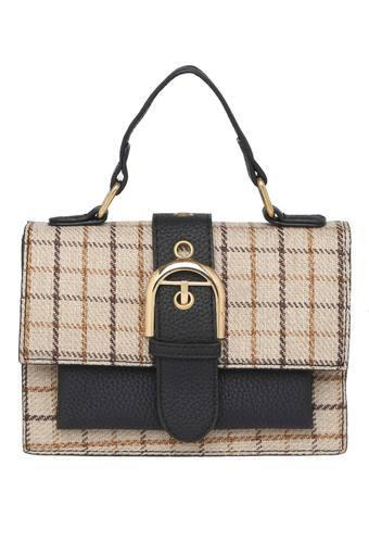 Womens Button Closure Sling Bag