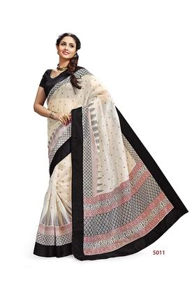 ASHIKA Womens Printed Saree With Blouse Piece - 204577030_7086