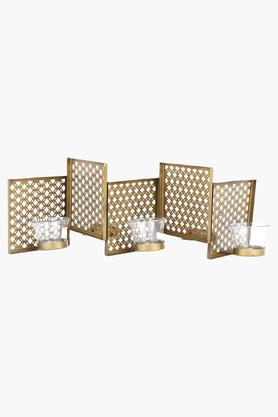ADARA Table Top Zic Zac Grid Candle Holder