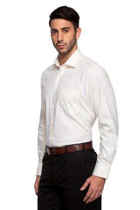 Mens Slim Collar Self Printed Shirt