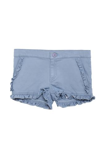 Girls Solid Casual Shorts