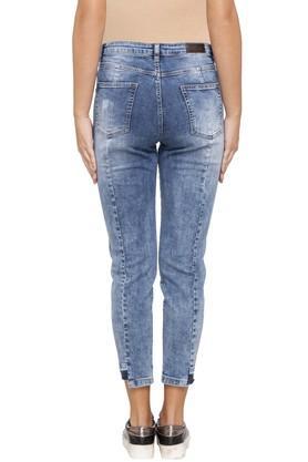 Womens 4 Pocket Stone Wash Jeans