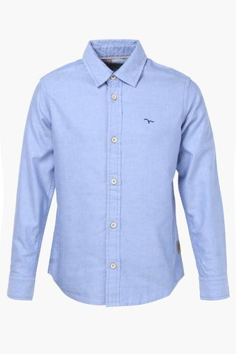 Boys Collared Slub Shirt