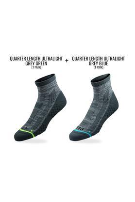Unisex Printed Quarter Socks - Pack of 2