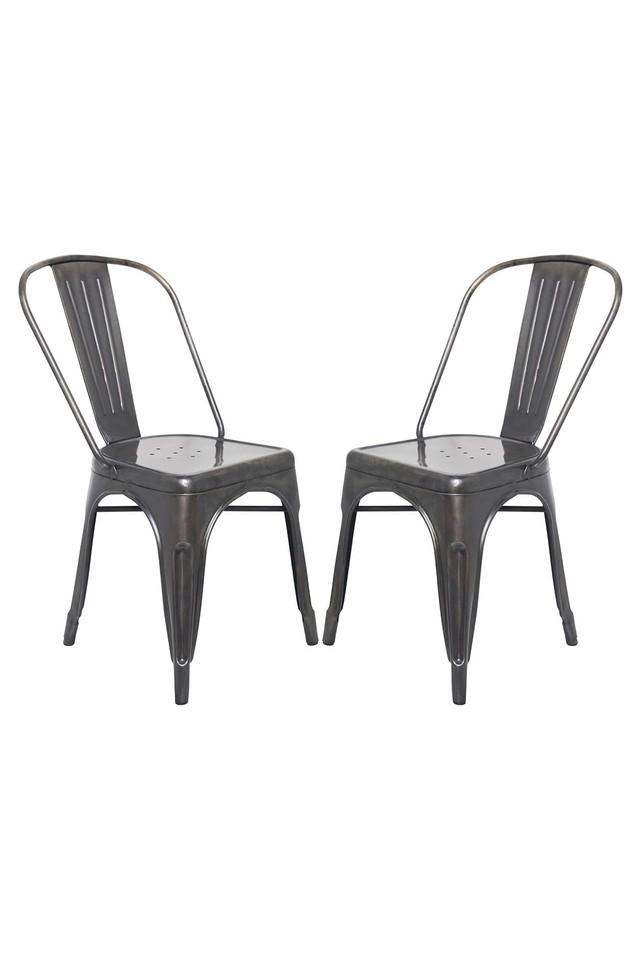 Black Stylo Chairs Set of 2
