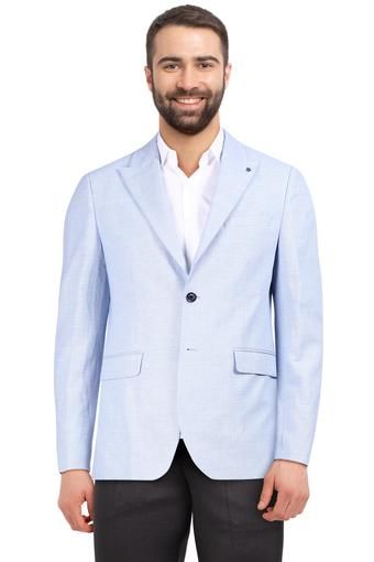 Mens Peaked Lapel Self Printed Blazer