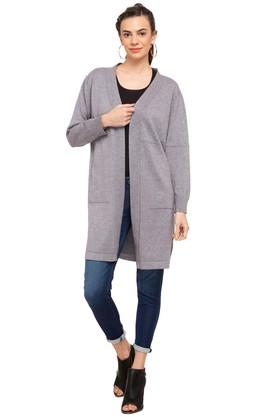 GIPSY Womens Open Neck Slub Cardigan