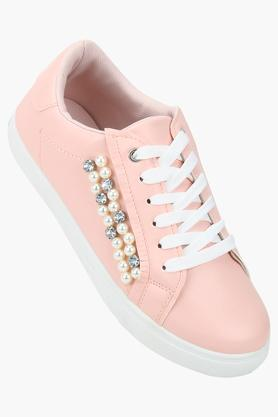 TRUFFLE COLLECTION Womens Casual Wear Lace Up Sneakers - 203748504