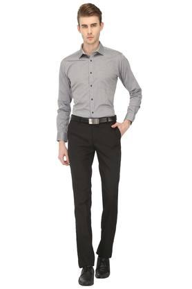 Mens Slim Fit Textured Formal Shirt