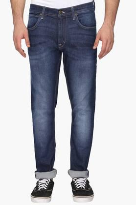 LEE Mens 5 Pocket Skinny Fit Heavy Wash Jeans (Luke Fit