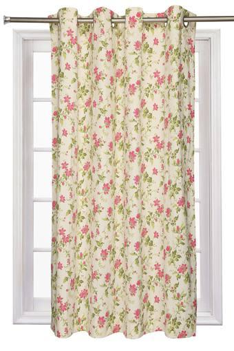 Floral Printed Window Curtain