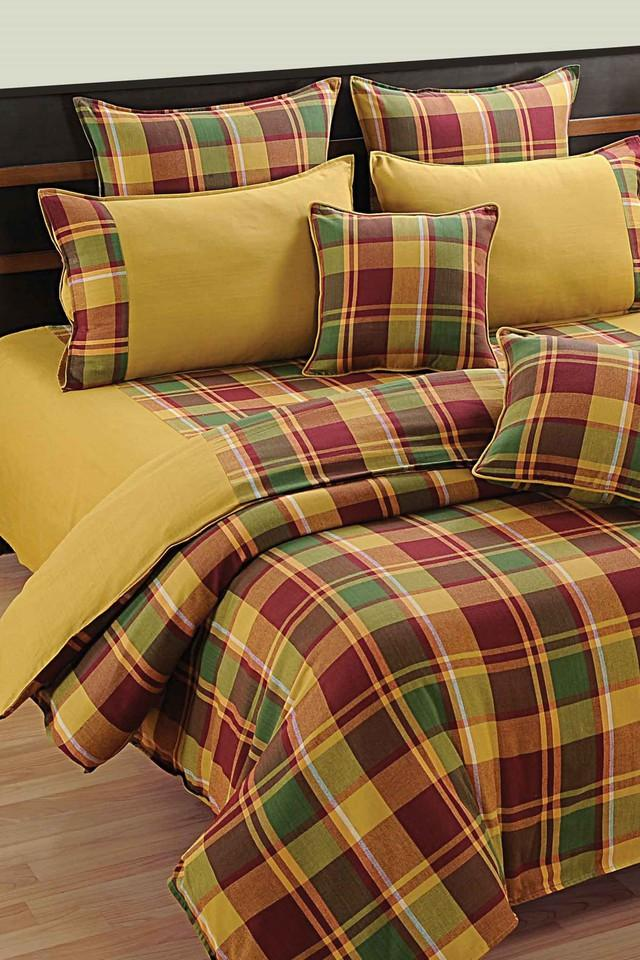 Check Double Extra Large Bed Sheet with 2 Pillow Covers