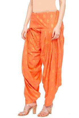 Womens Printed Patiala Pants