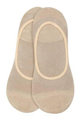 Womens Solid No Show Socks Pack of 2