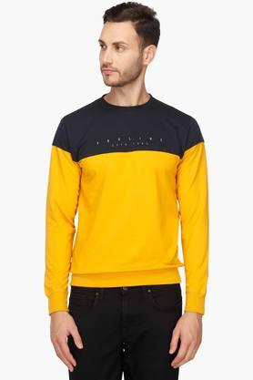 PROLINE Mens Round Neck Colour Block Sweatshirt