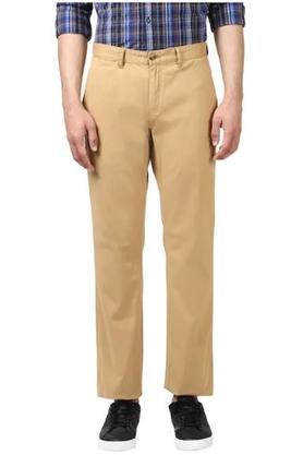 Mens 5 Pocket Regular Fit Solid Chinos