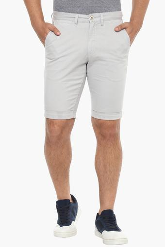 ALLEN SOLLY -  Off White Shorts - Main