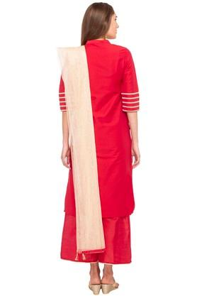 Womens Mandarin Neck Embroidered Palazzo Suit
