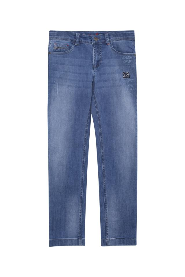 Boys Whiskered Effect Jeans