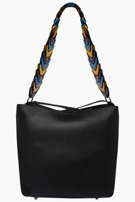 STOP Womens Snap Closure Hobo Handbag